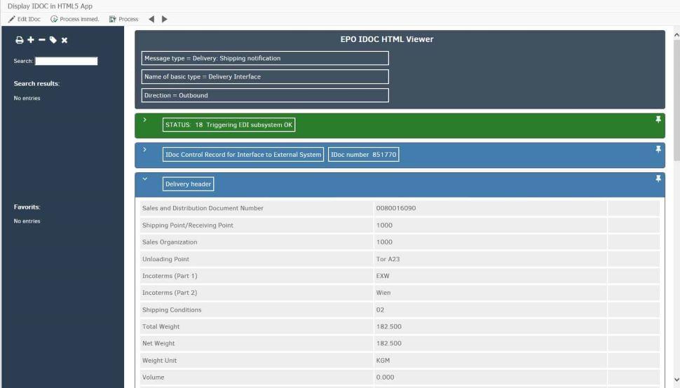 partner epo consulting IDoc monitor