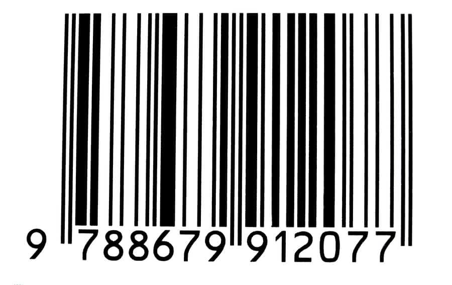 Beispiel Strichcode eines Buchs