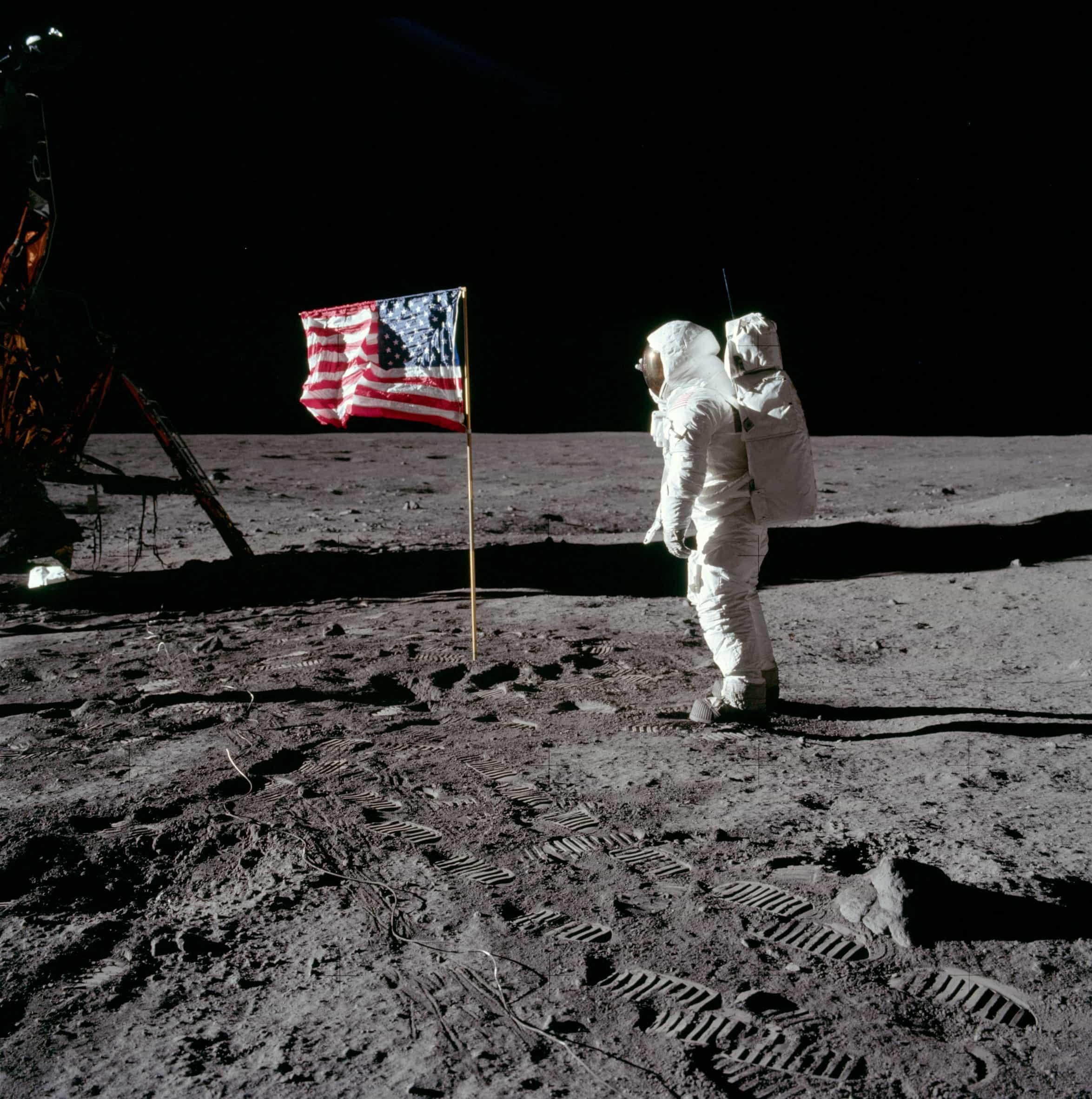 Buzz Aldrin am Mond