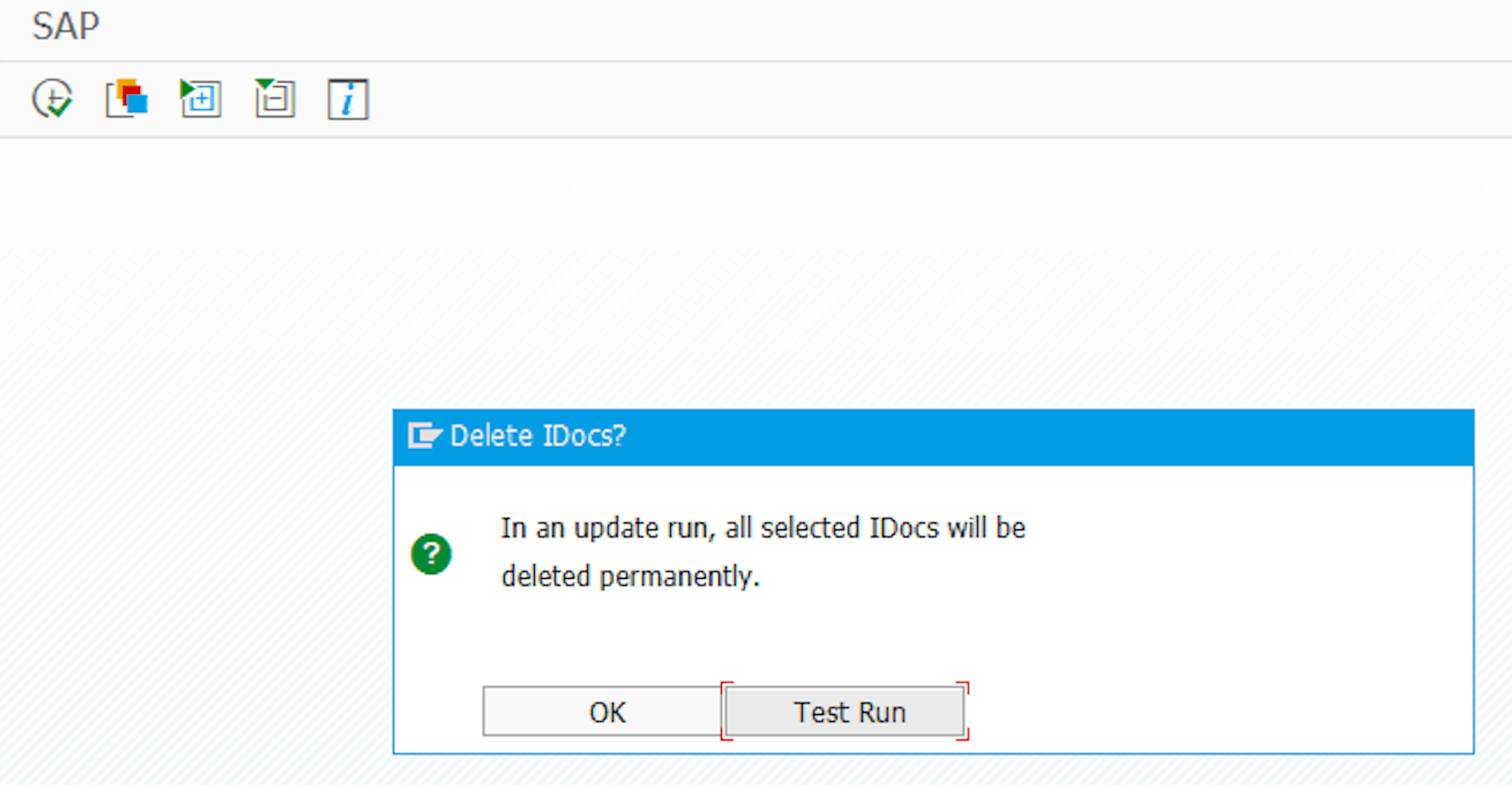 Confirmation Prompt in Transaction WE11 when Deleting IDocs