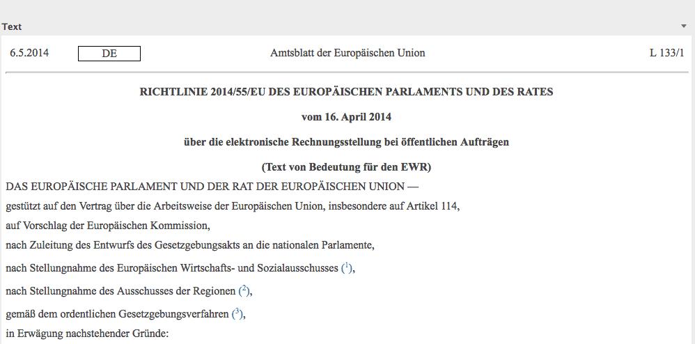EU-Richtlinie 2014/55/EU