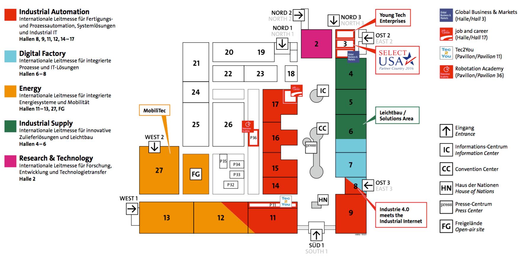 Hannover Messe Hallenplan