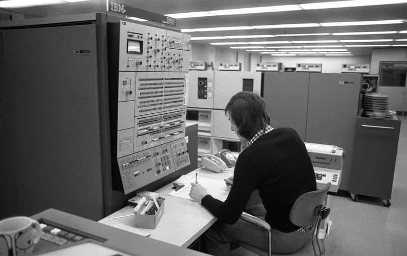 IBM 360 Großrechner bei Volkswagen (1973