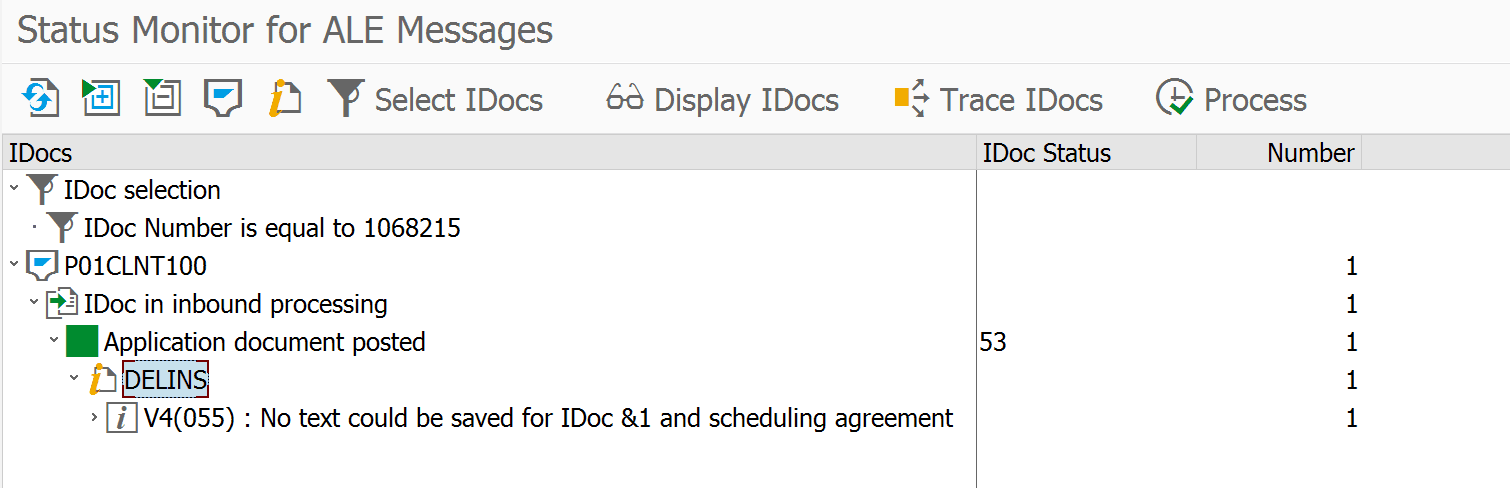 IDoc Instance in transaction BD87