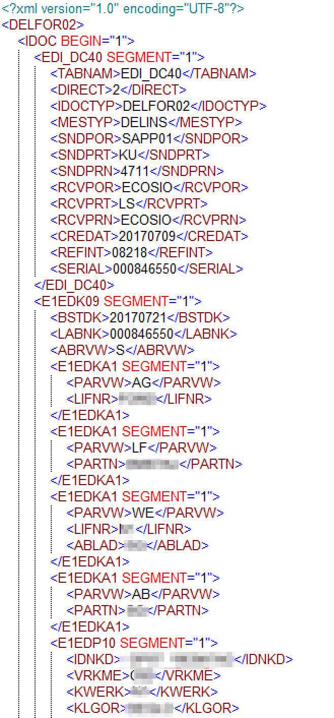 IDoc XML-Datei