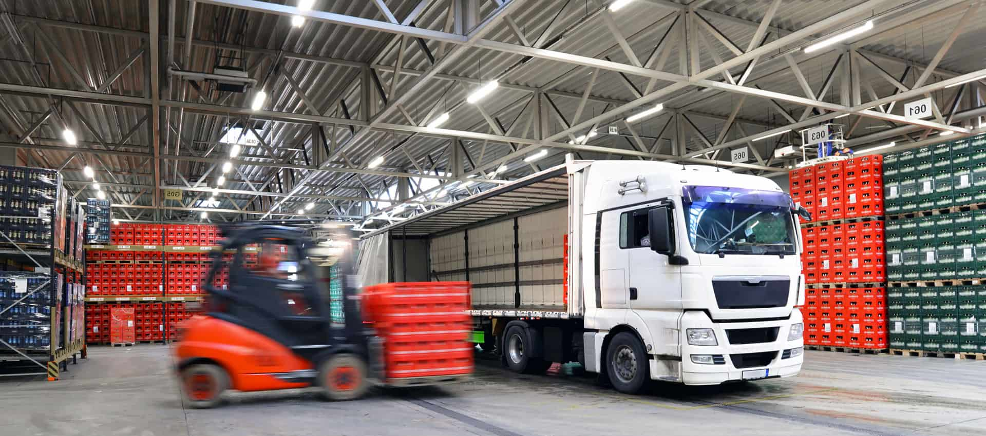 Loading and unloading in a warehouse