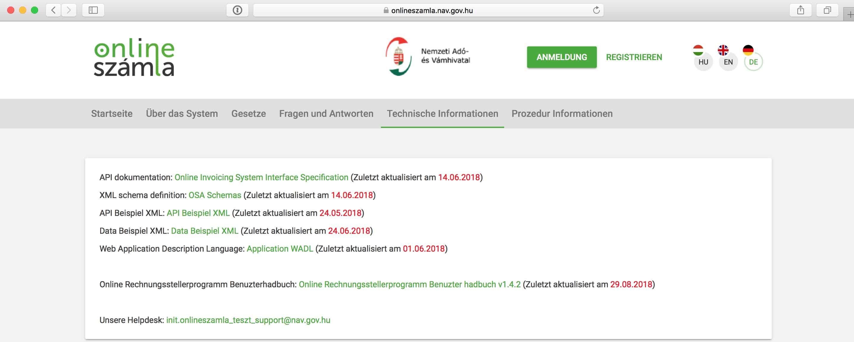 Webseite des NAV-Systems