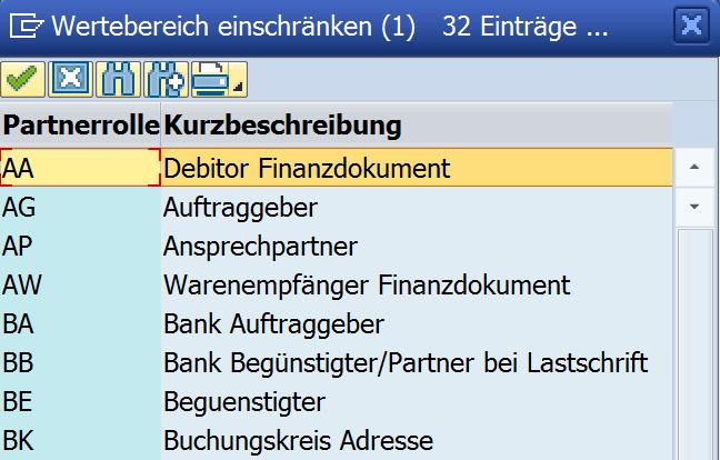 SAP-spezifische Qualifier