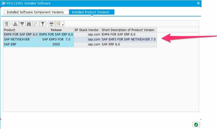SAP Produkt-Versionen