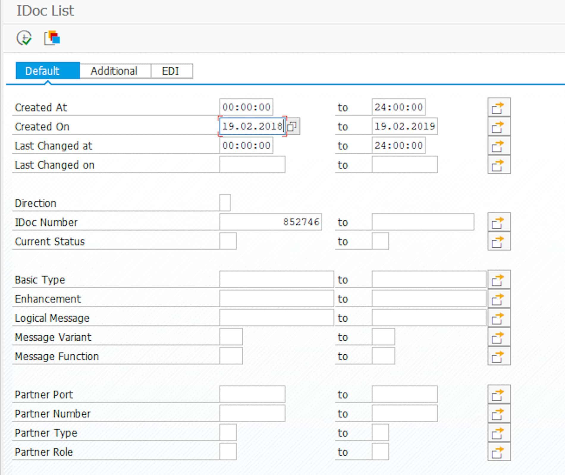 IDoc mit Transaktion WE02 suchen (Anklicken für größere Darstellung