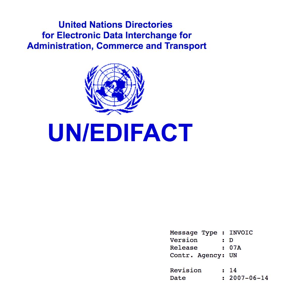 UN/CEFACT INVOIC D07A Standard