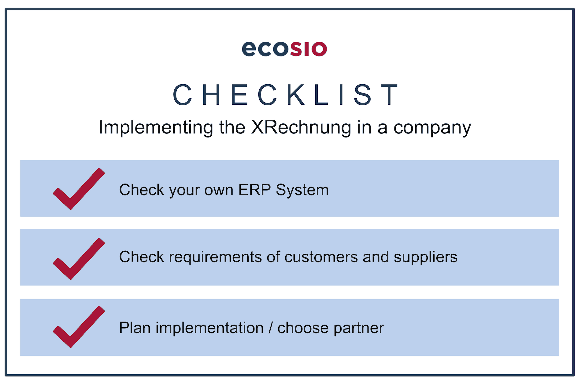 The Necessary Steps to Successfully Implement the XRechnung Standard in the Company