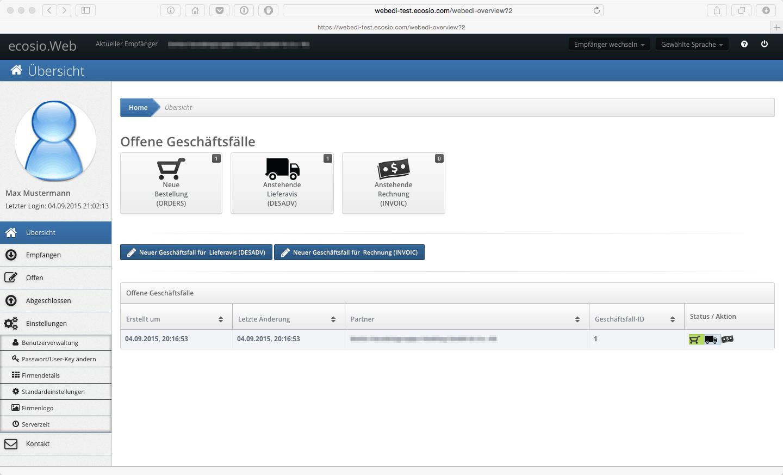 WebEDI - Weitere Funktionen