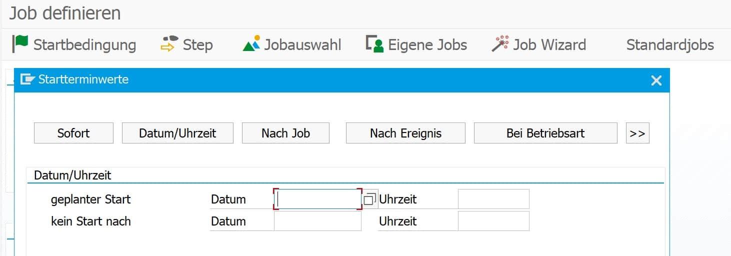 SAP Job Startbedingung