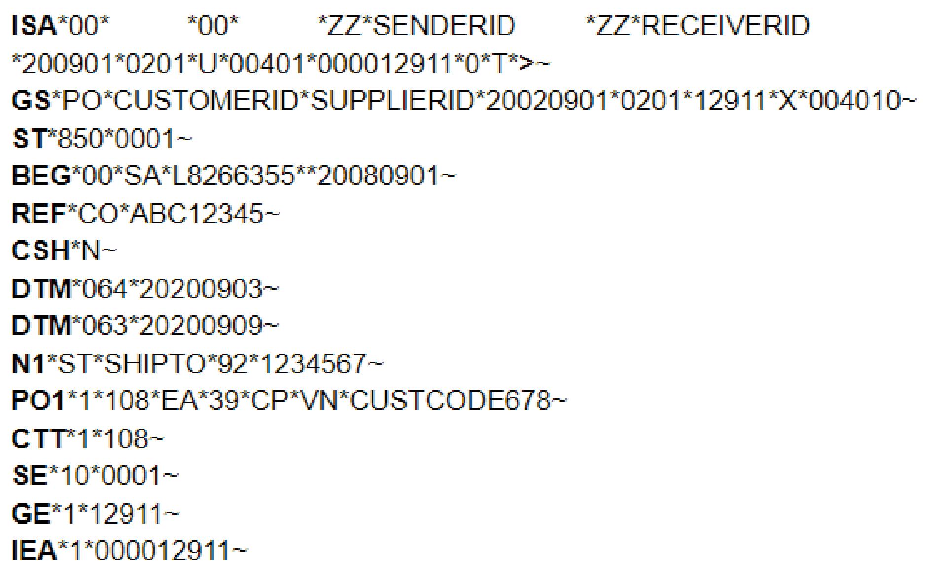 X12 Order - EDI File Formats
