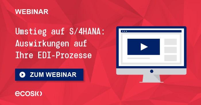 Teaser Webinar Der Umstieg auf S4HANA