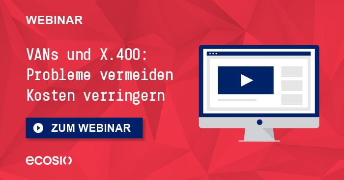 Teaser Webinar EDI Optimierung VAN und X400