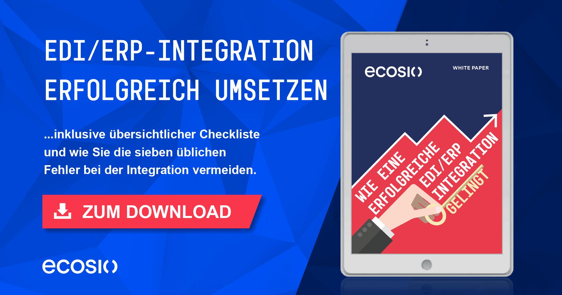 White Paper – Wie eine erfolgreiche EDI/ERP-Integration gelingt