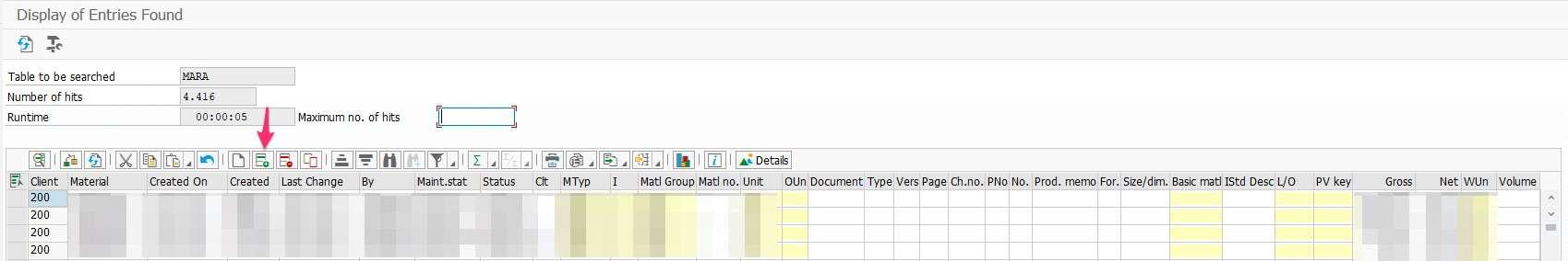 Eintrag in eine SAP Tabelle hinzufügen Transaktion MARA Beispiel