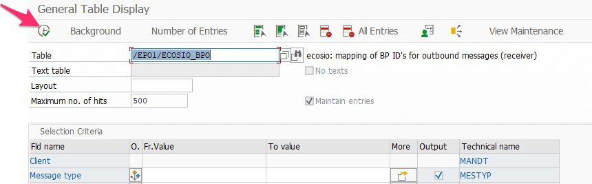 Eintrag in eine SAP Tabelle hinzufügen Transaktion S16n Tabellenauswahl
