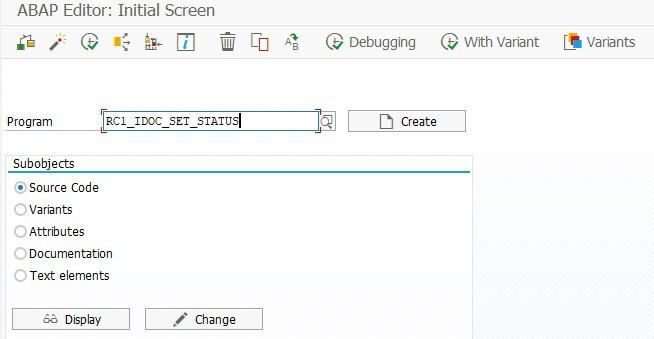 Program call in transaction SE38