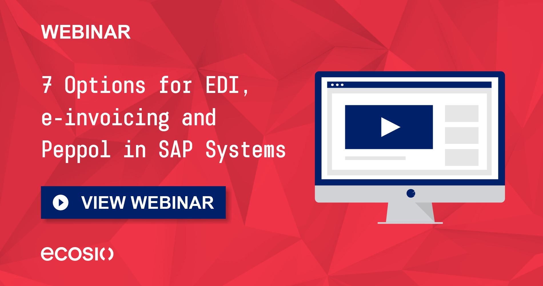 Webinar - 7 Options for EDI, e-invoicing and Peppol in SAP Systems
