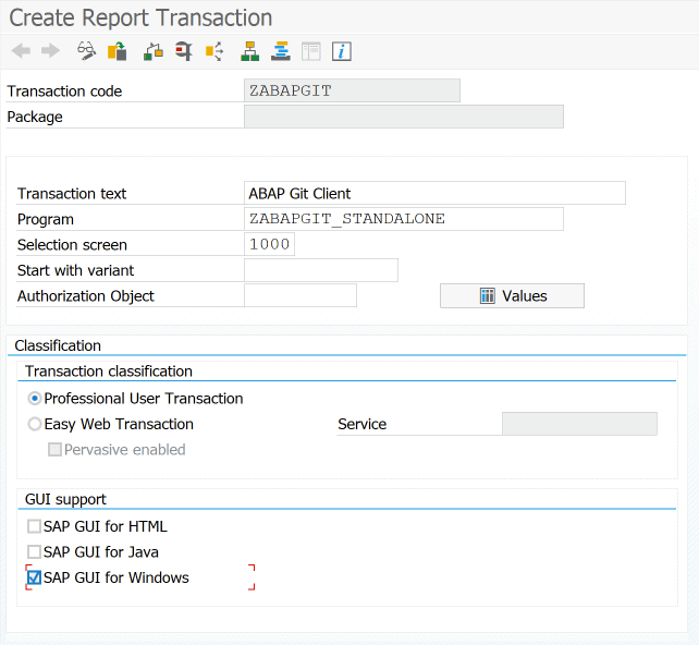 Transaktion SE93