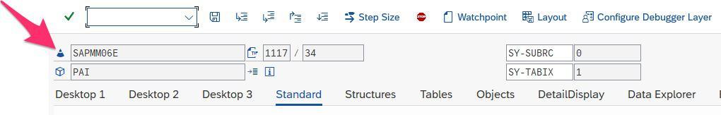 Resolving ME161 - ABAP debugger