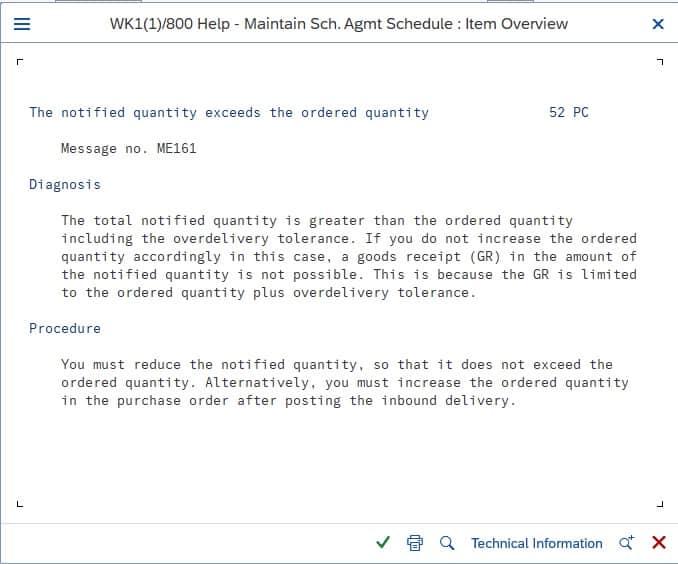 ME161 error message